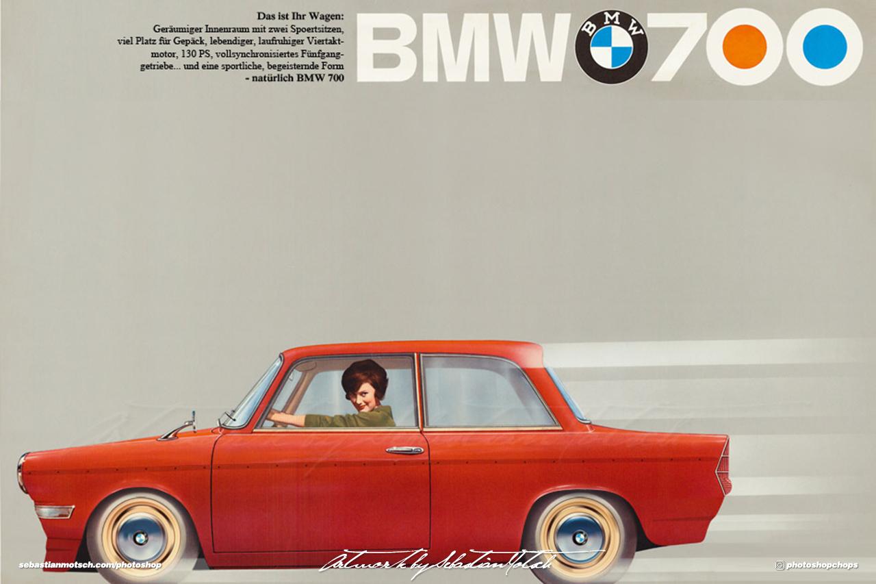BMW 700 LS Luxus Sport Advertisement Photoshop by Sebastian Motsch