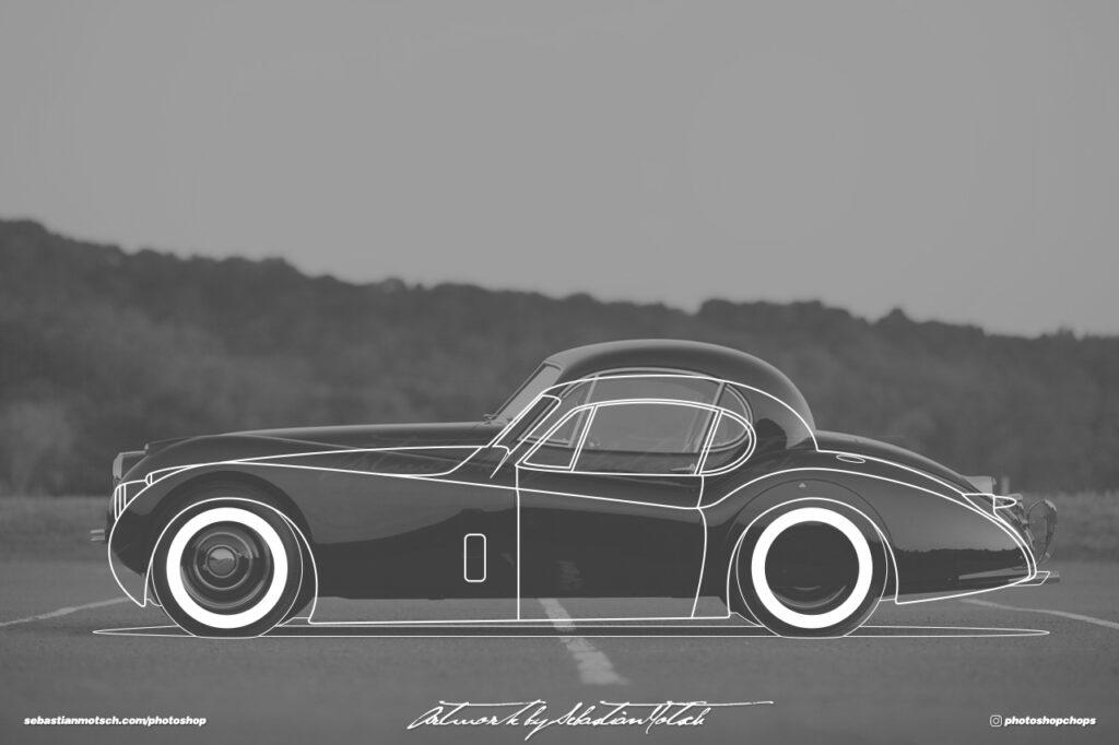 Jaguar XK120 Fixed Head Coupé Outlaw by Sebastian Motsch