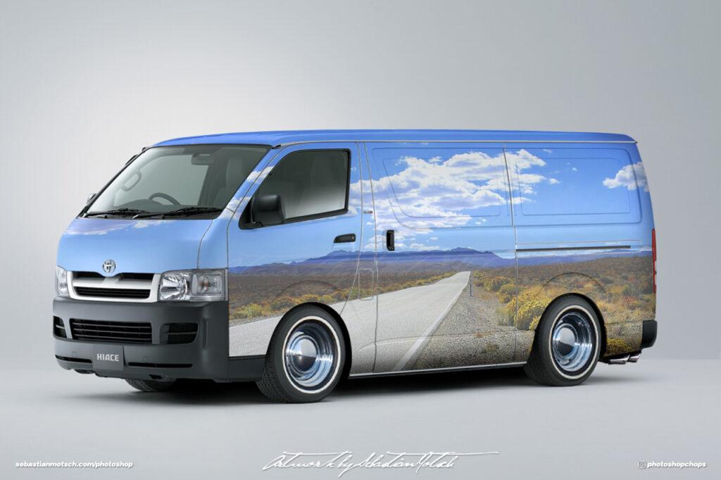 Toyota Hiace H200 Quantum Van Photoshop by Sebastian Motsch