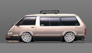 Toyota R20 Van Model-F Tarago with American Racing Wheels Photoshop by Sebastian Motsch