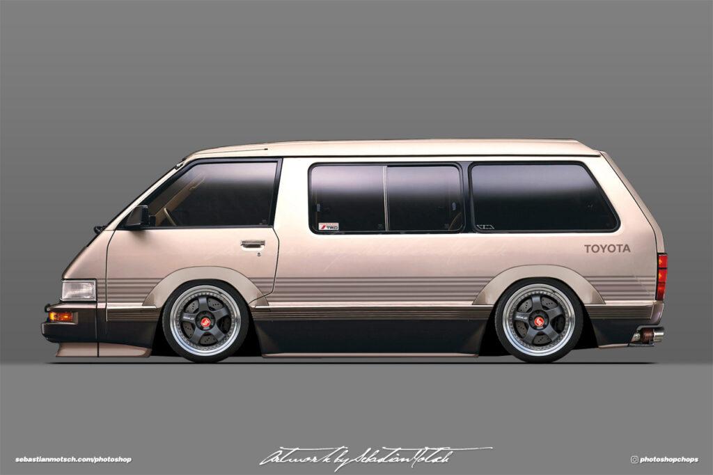 Toyota R20 Van Model-F Tarago with Work Meister S1 Wheels Photoshop by Sebastian Motsch