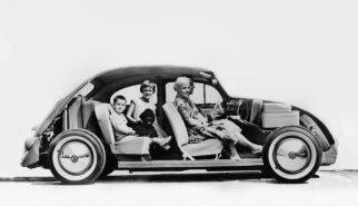 Volkswagen Beetle Käfer Custom Cutaway Photoshop by Sebastian Motsch