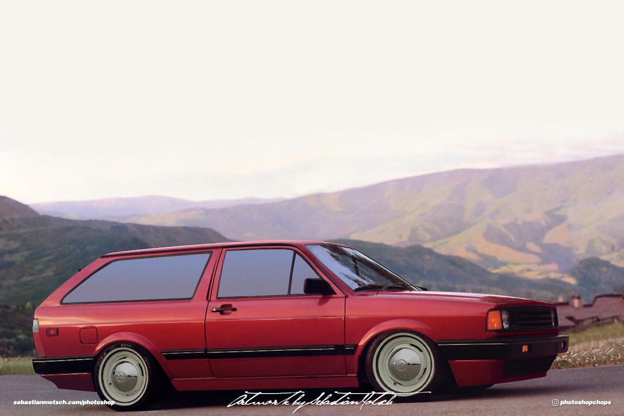 Volkswagen Fox Wagon USDM Photoshop by Sebastian Motsch