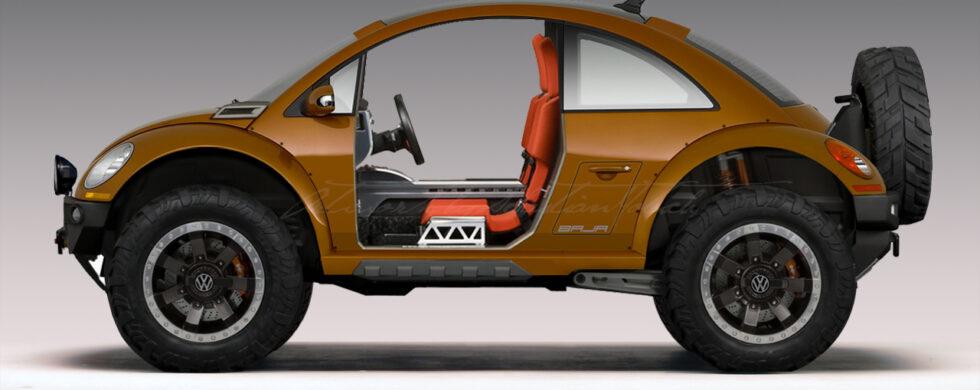 Volkswagen New Beetle BAJA Concept Photoshop by Sebastian Motsch