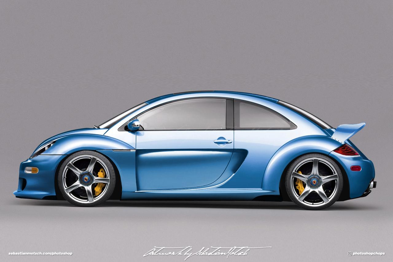 Volkswagen New Beetle CGT Concept Photoshop by Sebastian Motsch